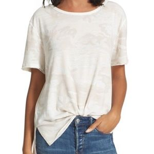 Free People | White Camo Army top